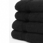 Bleach & Tint Resistant Towel - Black - Pack of 12